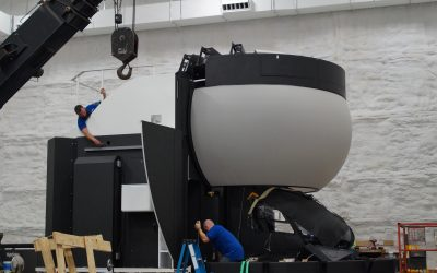 North America's first 145 full motion simulator arrives at Helicopter Flight Training Center